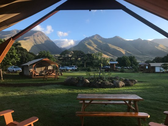 Camp Olowalu: View from the tentalo