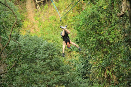 Extreme Zip Line Adventure: you don't have to go upside down....