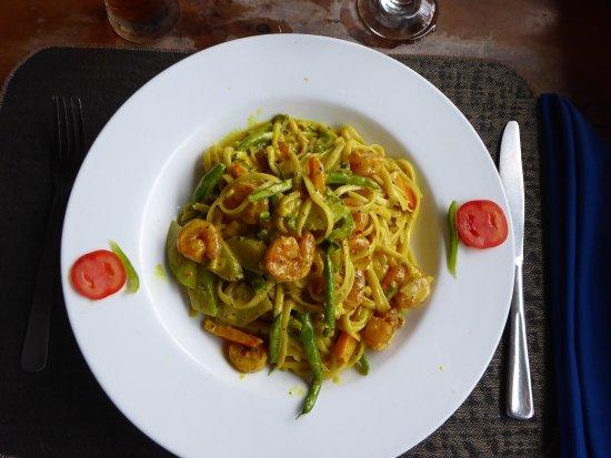 Ciao Jamaica: Signiture plate: Linguini mit Shrimps in Kokossauce