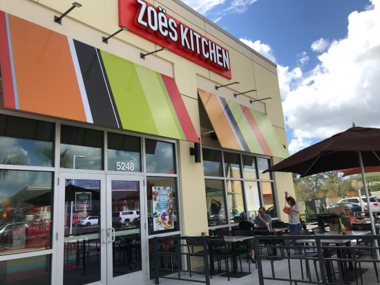Entrance To Zoe S Next To Whole Foods Picture Of Zoes Kitchen Sarasota Tripadvisor
