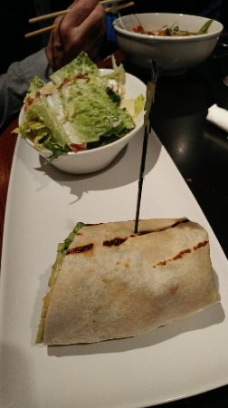 Jack Astor's Bar & Grill : Half eaten wrap and asian chicken bowl