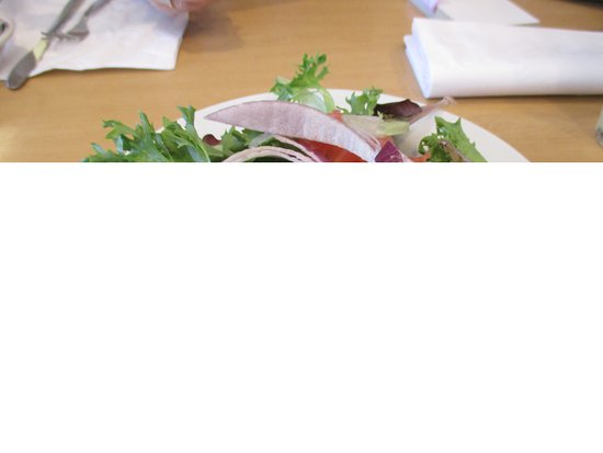 IHOP: salad serve with steak tips tomatoes,letture, and onions