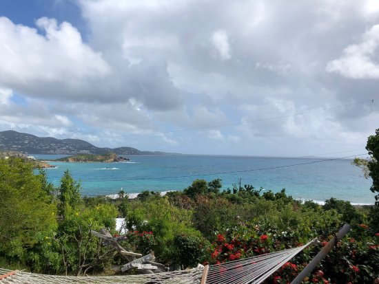 Water Island, St. Thomas: view of the ocean from the pavilion