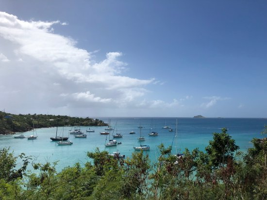 Water Island, St. Thomas: view of honeymoon beach- walking distance from the campground