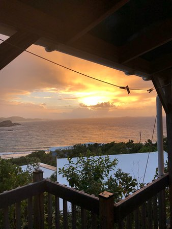 Water Island, St. Thomas: sunrise view from the deck