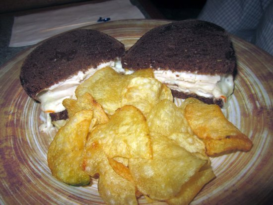 Hummelstown, PA: Finch (Turkey w/ bacon & melted Muenster cheese on Pumpernickel)