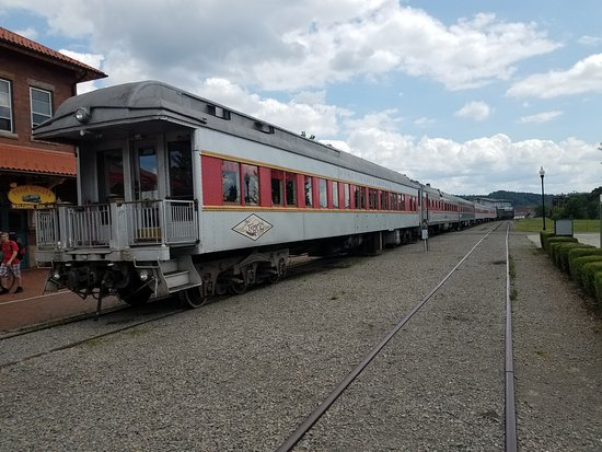 Durbin and Greenbrier Valley Railroad: The New Tygart Flyer at Elkins Depot Welcome Station