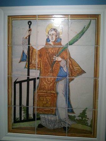 Museo de Santa Cruz: Mosaico de San Lorenzo.