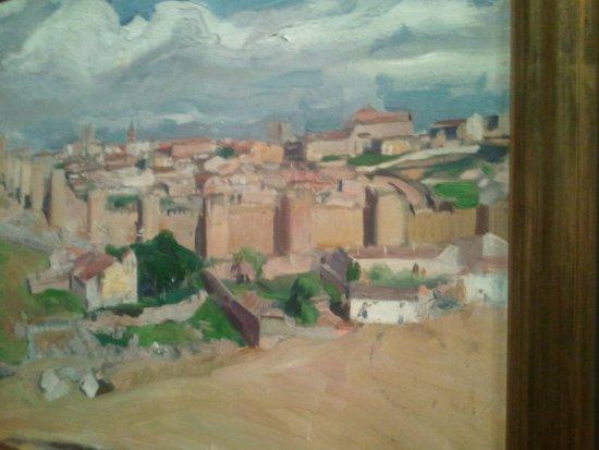 Museo de Santa Cruz: Un bello cuadro de Sorolla, de sus paisajes castellanos.