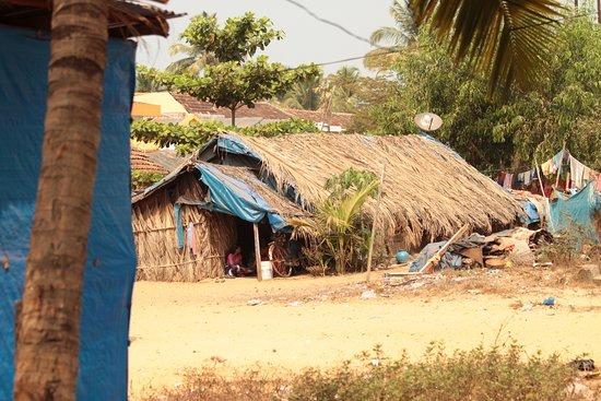 Colva, Indien: poaz plażą
