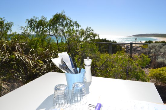 Cape Naturaliste, Australia: View from our table