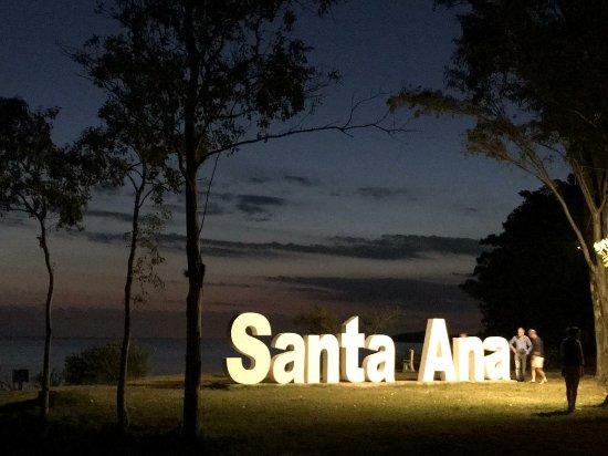 Playa Santa Ana, Urugwaj: Letras corpóreas iluminadas_large.jpg