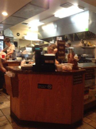 Colorado City, Colorado: Counter, cashier, and kitchen area