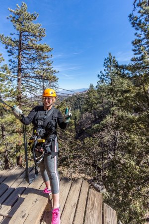 Wrightwood, Califórnia: Ziplines At Pacific Crest