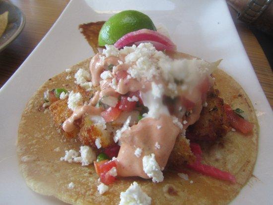 Fish Taco, Poseidon Restaurant on the Beach, Del Mar. Ca