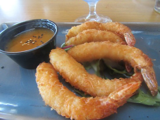 Coconut Shrimp Appetizer, Poseidon Restaurant on the Beach, Del Mar, Ca