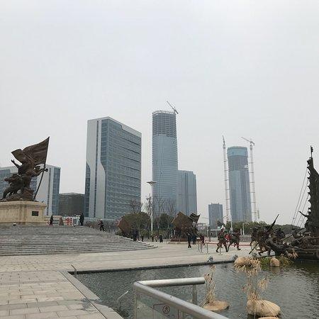 Nanchang, China: Jianjun Sculpture Square (Gan jiang north avenue next to river).