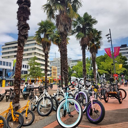 HIre a bike from Garden Place in the heart of Hamilton CBD.