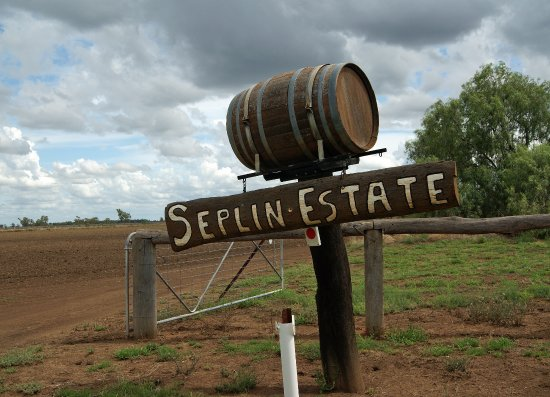 Wee Waa, Australia: Seplin Estate sign