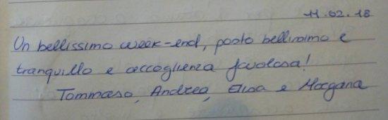 Sant'Anna Pelago, إيطاليا: I nostri clienti ci scrivono