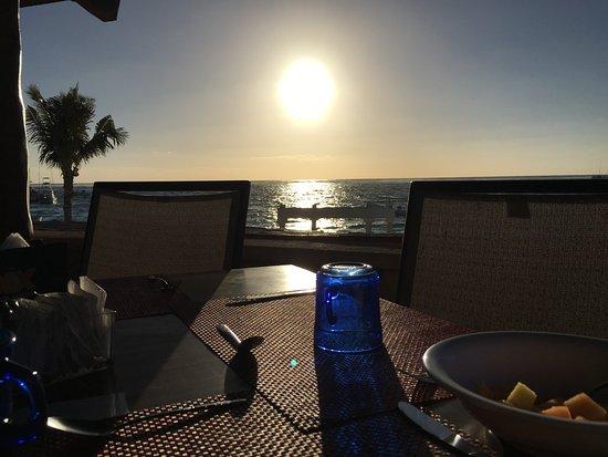 Hotel Hacienda Morelos: Ausblick beim Frühstück