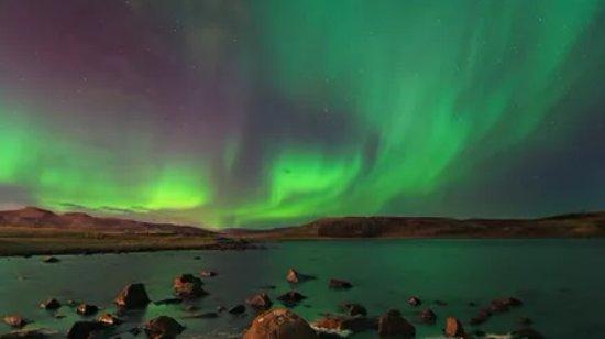 Mosfellsbaer, Islandia: Aurora Borealis