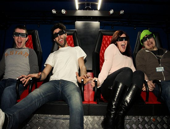 5D Cinema -3D movies with motion platform & special effects like