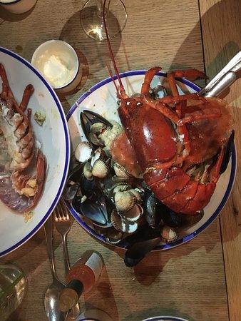 Ickham, UK: Valentine's seafood platter