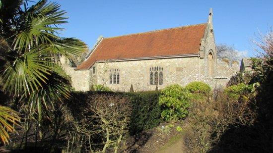 Carisbrooke Castle: The Chapel from inside Beatrice Garden