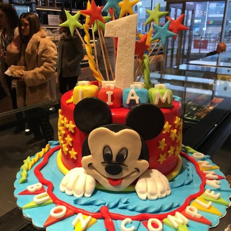 Sensational Mickey Mouse Birthday Cake Picture Of Lebon Tirana Tripadvisor Funny Birthday Cards Online Fluifree Goldxyz