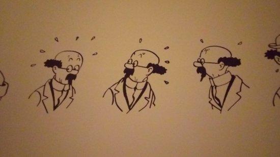 Musée Hergé : Dessin de Tournesol