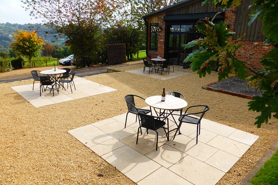 Terrace at our Woodchester Vineyard
