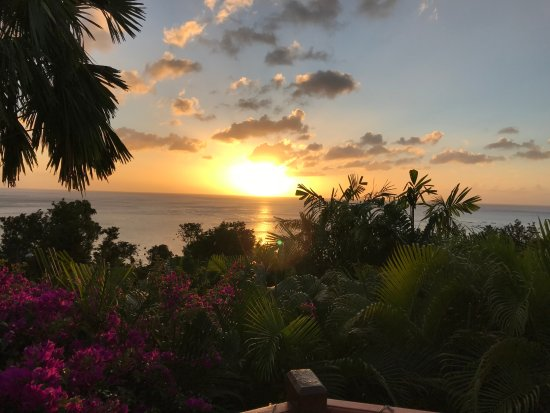 Rochers Caraibes-Eco Village: view from the deck