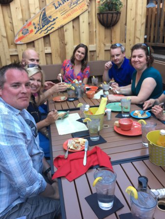 Hudson Food Walk: Dining on the beautiful patio at San Pedro's Cafe.