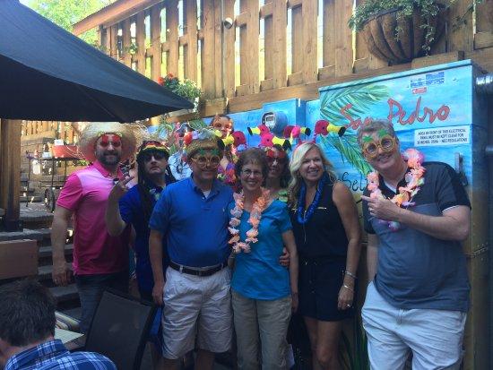 Hudson Food Walk: Tour group having fun at San Pedro's Cafe.