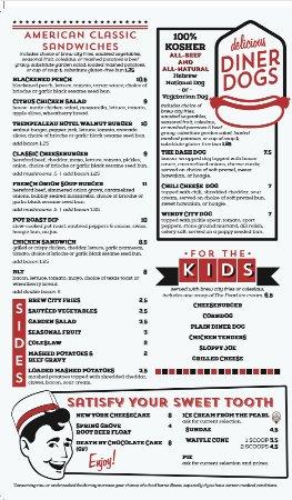 Onalaska, WI: David Reay's Modern Diner + Tavern Menu February 2018