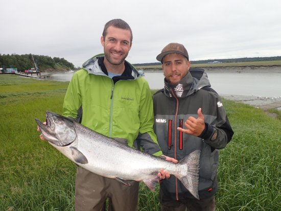 Moose Pass, AK: Kasilof King with guide Jared Lindquist