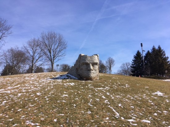 Leatherlips Monument: Chief Leatherlips sits on a hill at the top of the park.