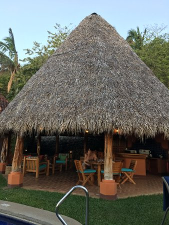 Punta Islita, Costa Rica: This is the outdoor living room. This photo does not do it justice.