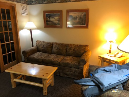 Ladysmith, WI: Living room area of suite - has an additional TV as well from bedroom
