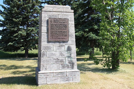 Indian Head, Canada: Territorial Grain Growers Assoc. Monument - May 26 1953