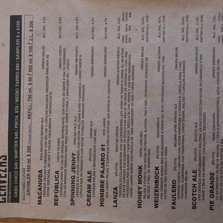 Jard n de cerveza h rcules queretaro city fotos n mero de tel fono y restaurante opiniones - Jardin des crayeres menu ...