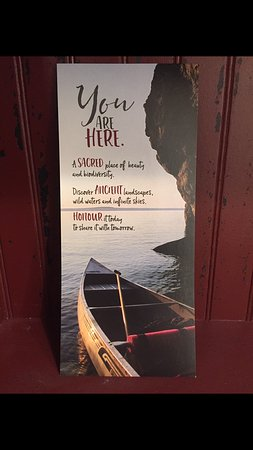 Miller Lake, Canada: I LOVE this little welcome card. Bruce Peninsula is so special
