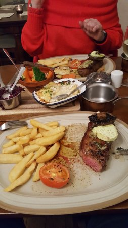 Steak, Medium Rare and cooked to perfection at Anthony's Restaurant