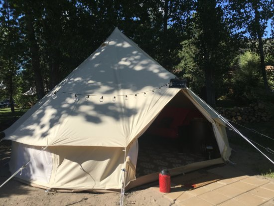 Ririe, ID: Large glamping tents with picnic table, two outdoor chairs, firepit with fire wood provided, & B