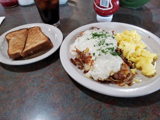 Winnemucca, NV: Gravy train potatoes with eggs and toast