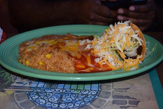 Acton, CA: Taco/Enchilada Combination