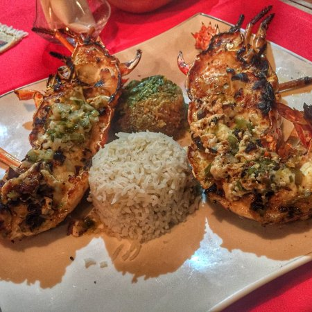 Grand Bourg, Guadalupe: Langoustes grillées