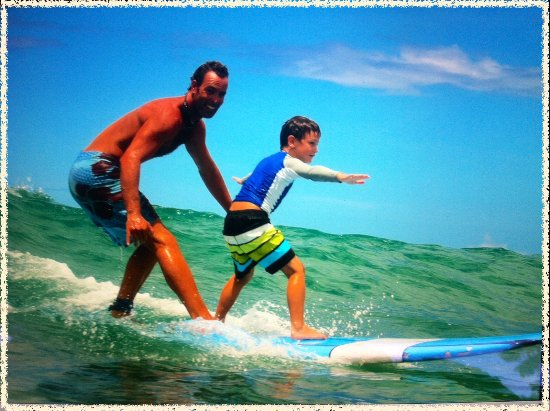 Catch'a Wave: Tandem surfing!  Surf Lessons for all ages, even with the Surf Teacher