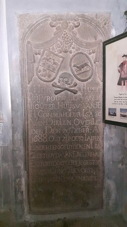 Church of Saint Francis : The inscriptions in from of the burial place